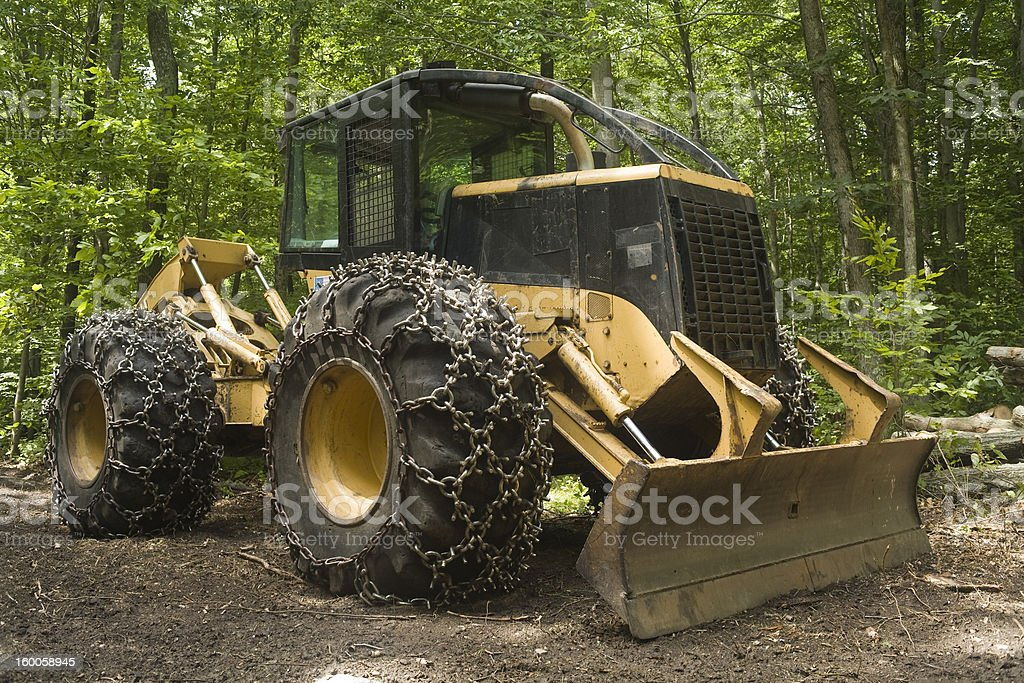 Logging machine - Skidder stock photo