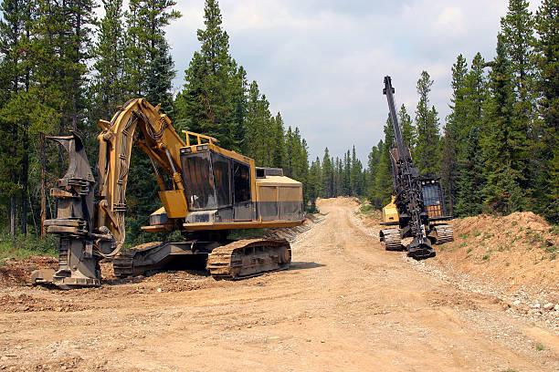 logging # 2 - logging equipment stock photos and pictures