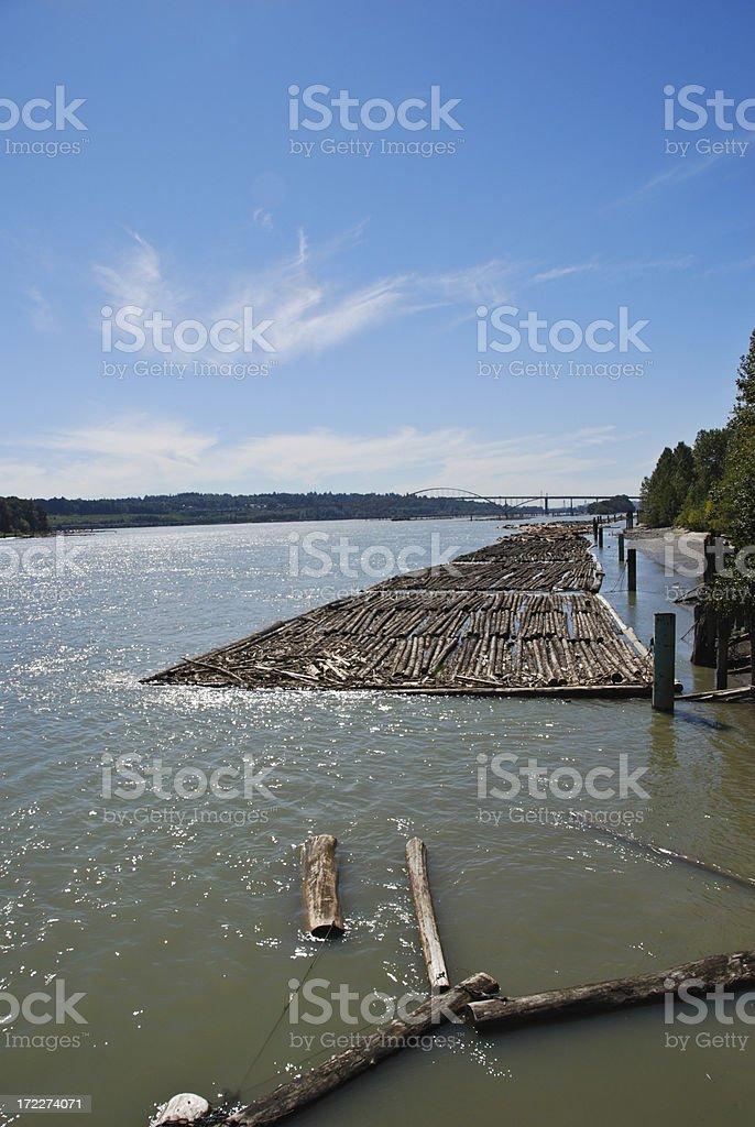 Logging Transport royalty-free stock photo