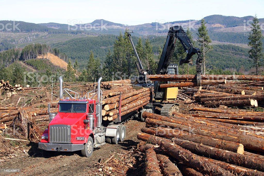 logging truck royalty-free stock photo