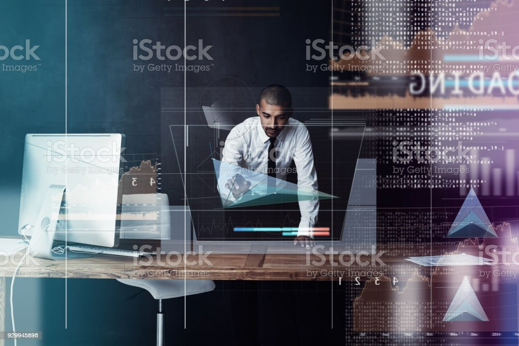 Logging updates through the virtual domain stock photo