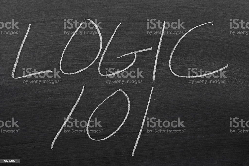 Logic 101 On A Blackboard stock photo