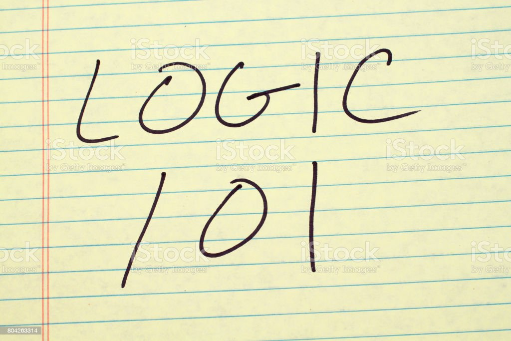 Logic 101 On A Yellow Legal Pad stock photo