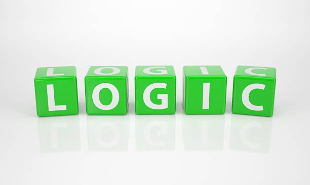 Logik von grünen Buchstabe Dices – Foto