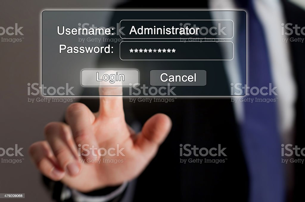 login and password stock photo