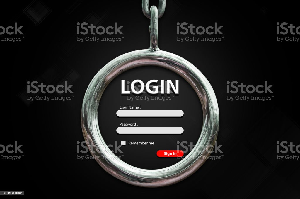 Login background stock photo