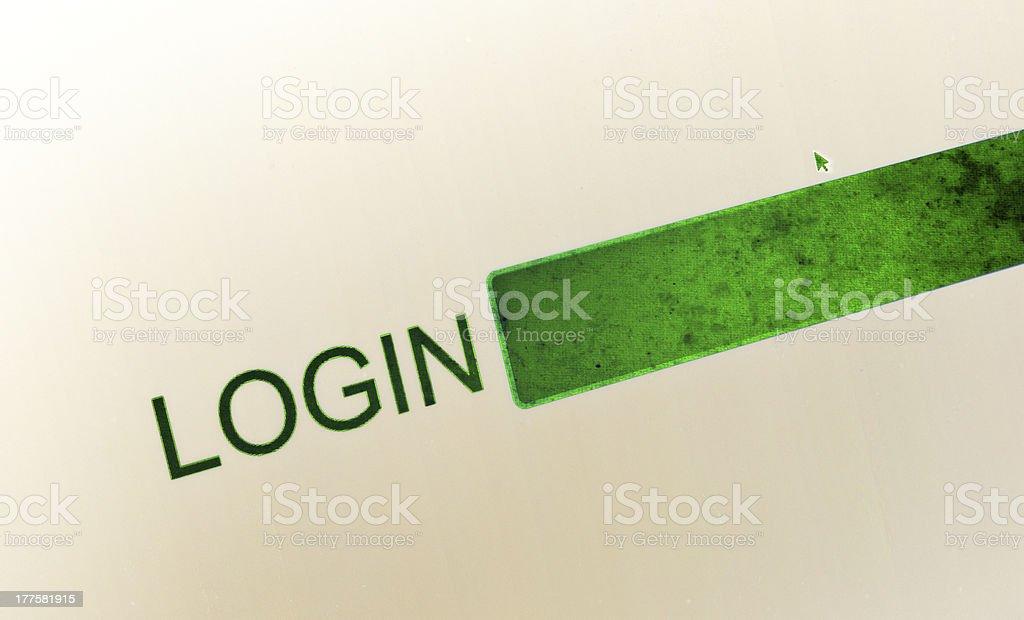 Login royalty-free stock photo