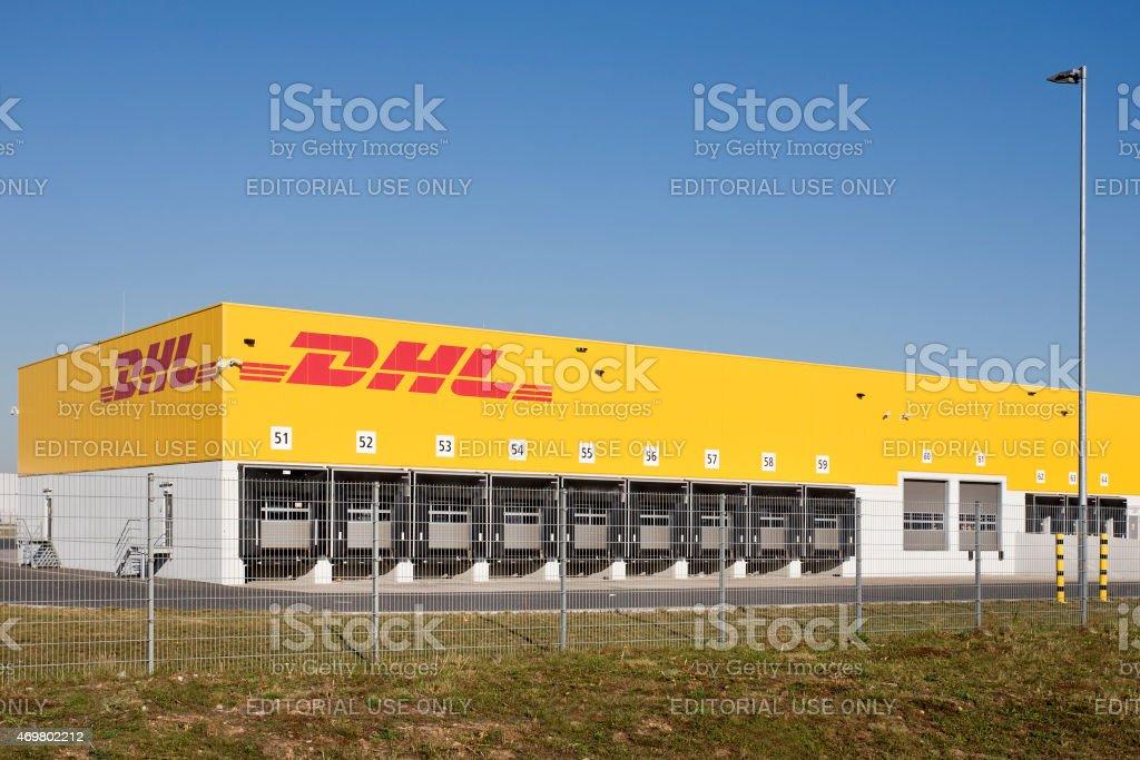 DHL logistic and distribution hub, Logistikzentrum stock photo