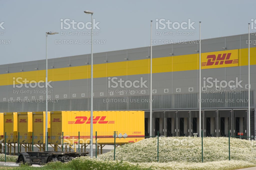 DHL logistic and distribution hub royalty-free stock photo