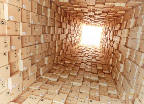 Logistik und Distribution warehouse – Foto