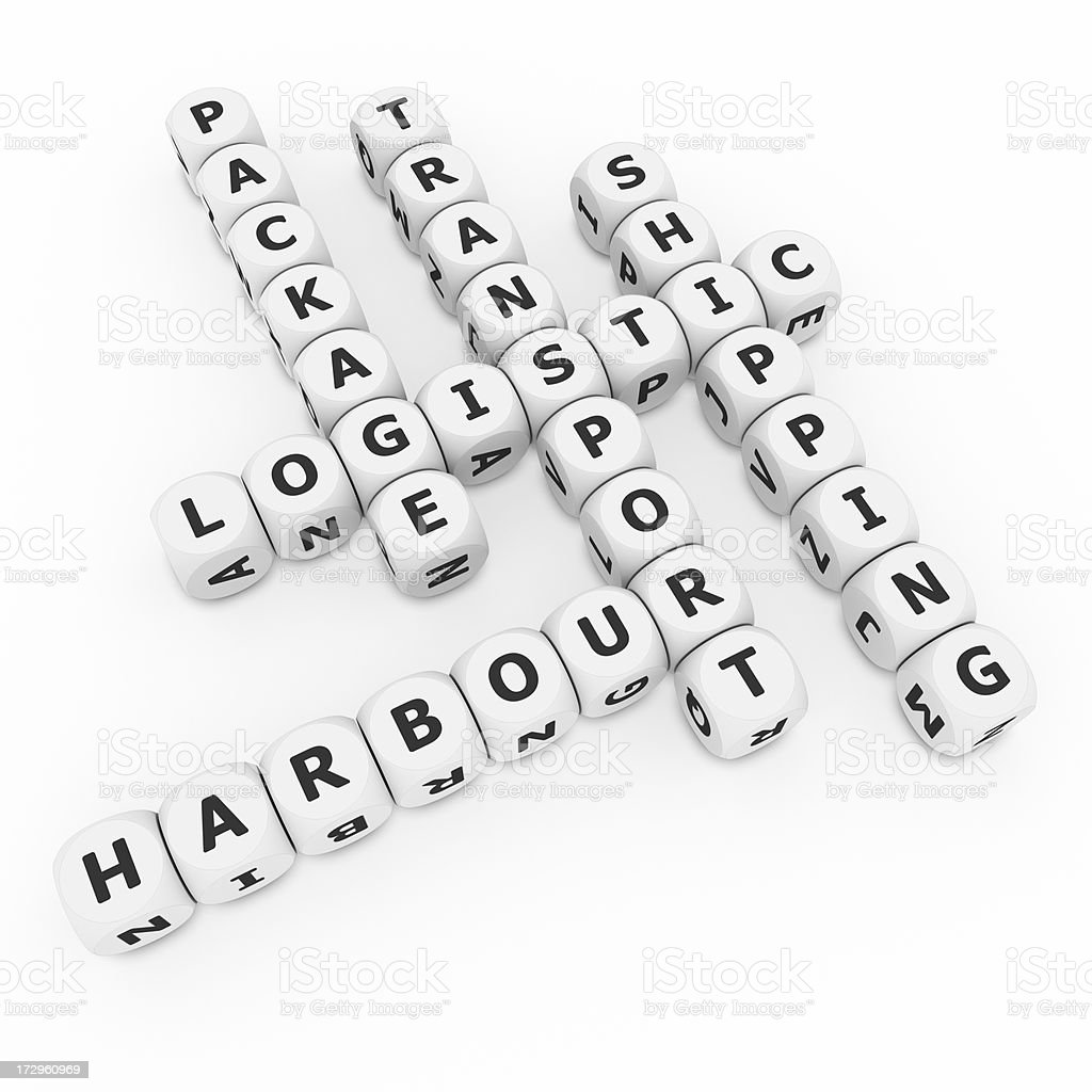 logistic crosswords on dices royalty-free stock photo