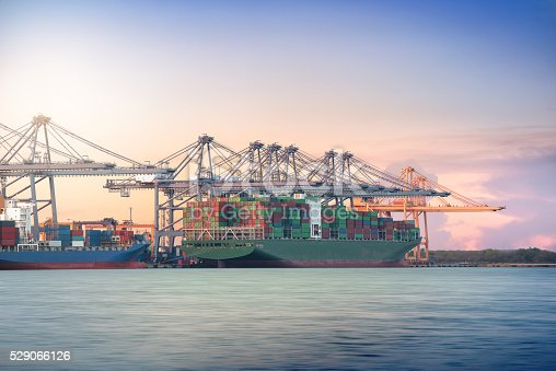 637816284istockphoto Logistic Import Export background, Container Cargo freight ship 529066126