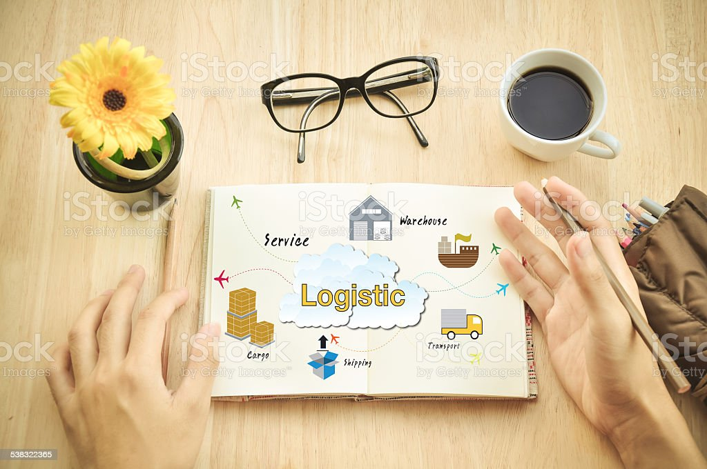 Logistic planning. stock photo