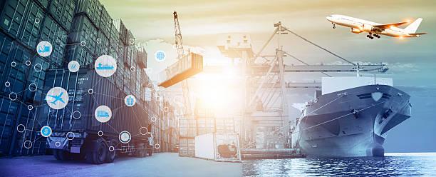 concept logistique et moyens de transport - Photo