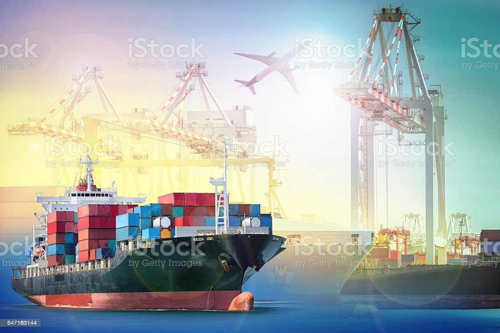 Logistics and transportation Container Cargo ship - Photo