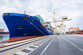 Logistics And Transportation Of International Container Cargo Ship