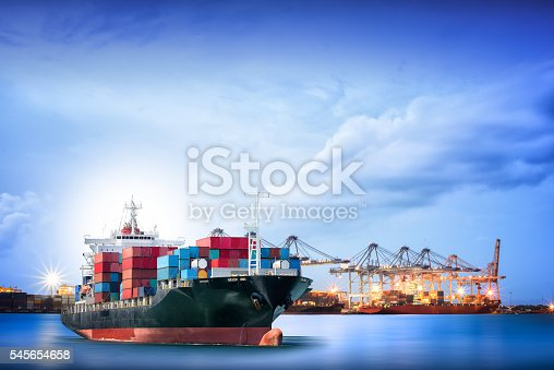 637816284istockphoto Logistics and transportation of International Container Cargo ship 545654658