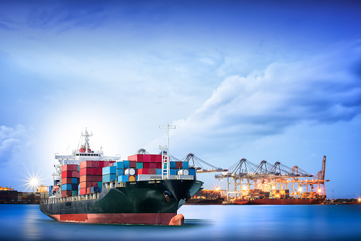 637816284 istock photo Logistics and transportation of International Container Cargo ship 545654658