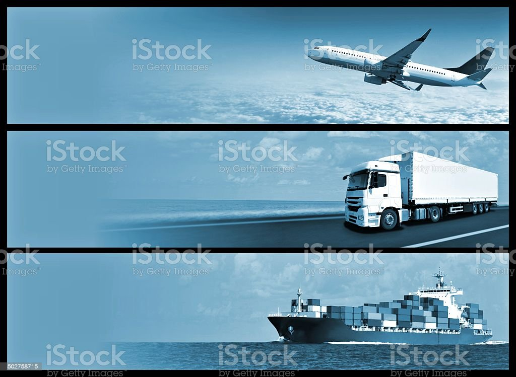 Logistics Banners royalty-free stock photo