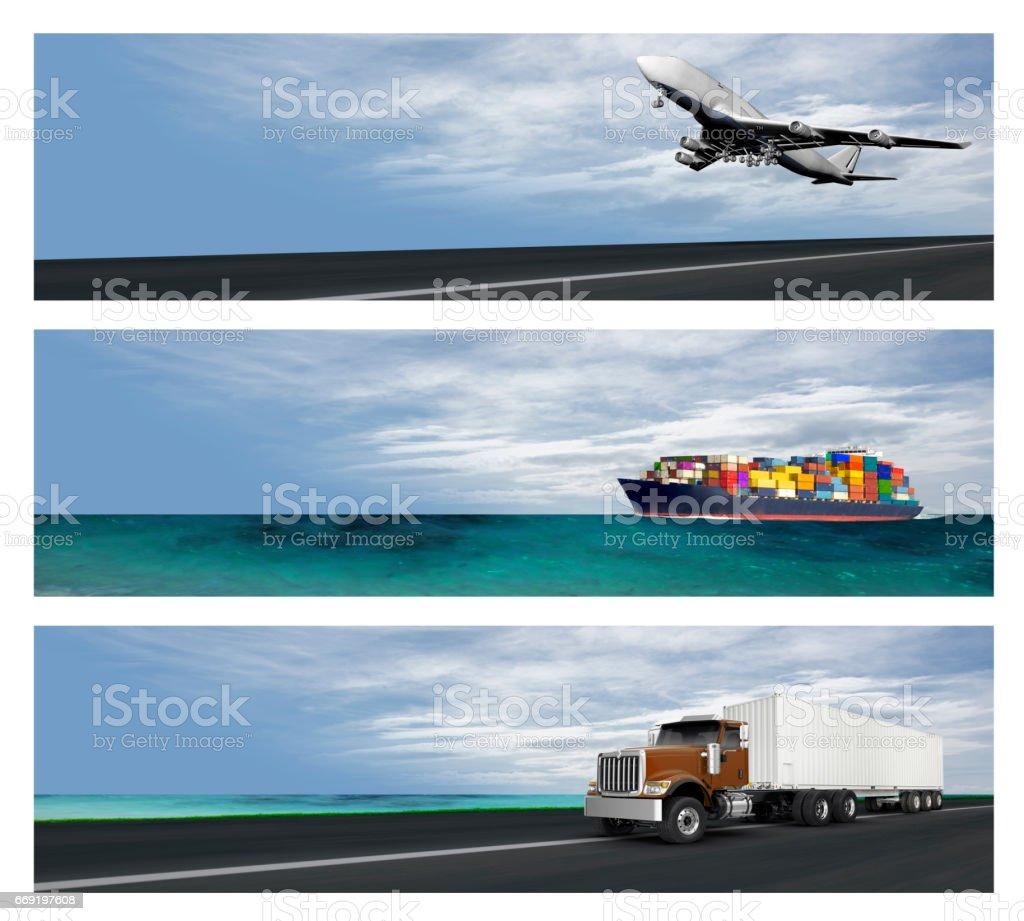 Logistics Banners stock photo