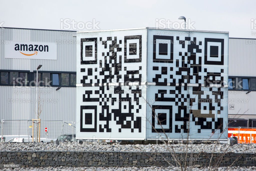 Logistics center of amazon in Raunheim-Moenchhof, Germany stock photo