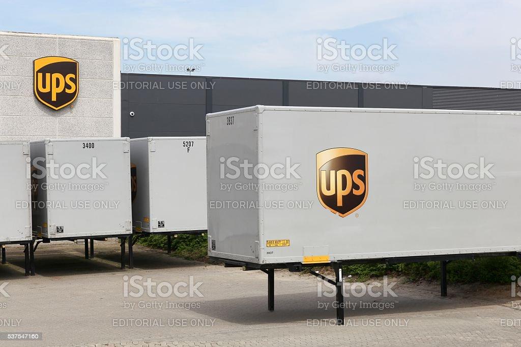 UPS logistics center stock photo