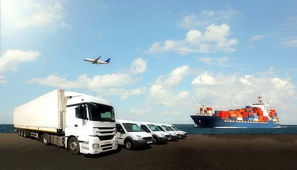 Composición de logística - foto de stock
