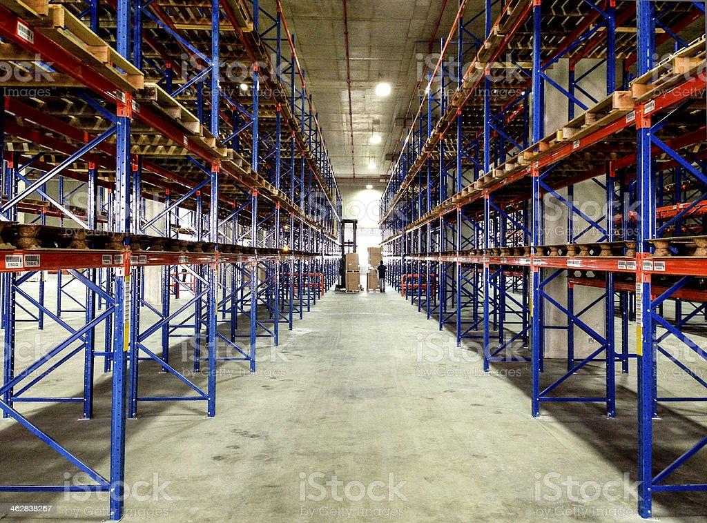 Logistics Industry Warehouse Storage Racks Stock Photo - Download