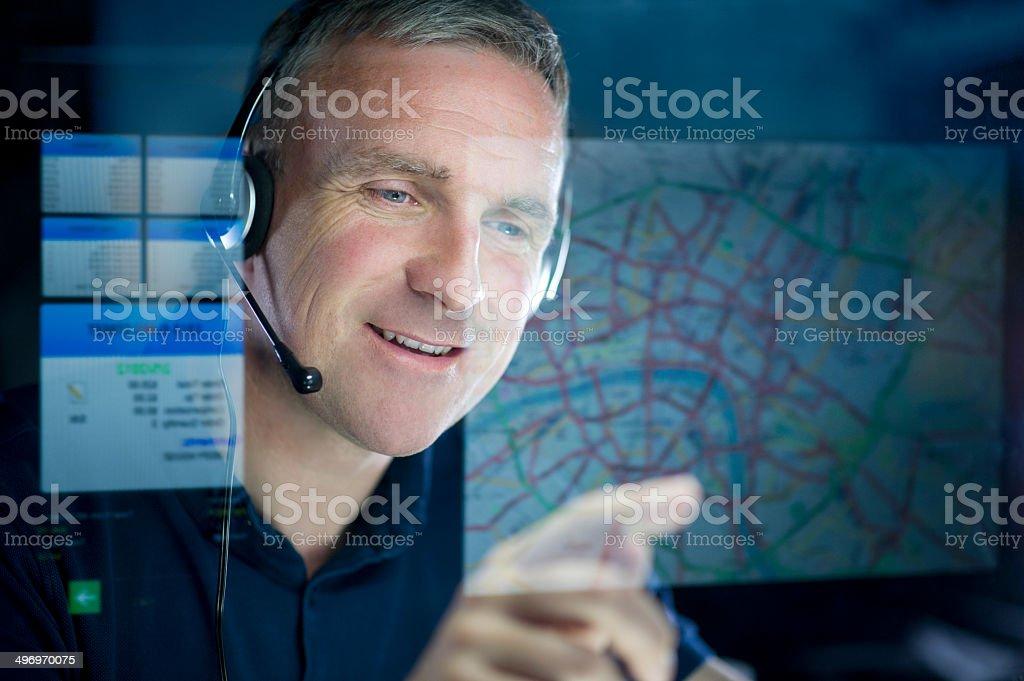 logistics operator stock photo
