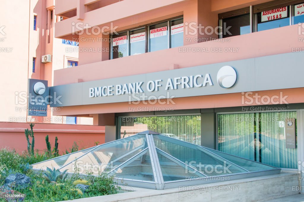 Logo and sign of BMCE Bank of Africa.
