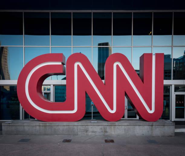 CNN Logo at Headquarters stock photo