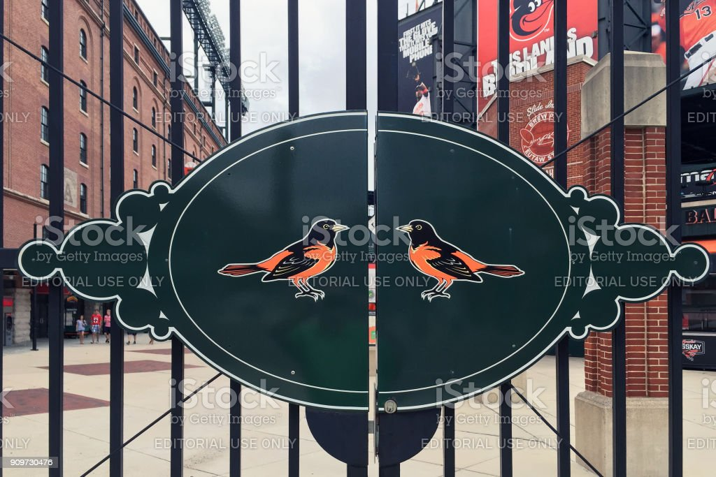Logo for the Baltimore Orioles stock photo