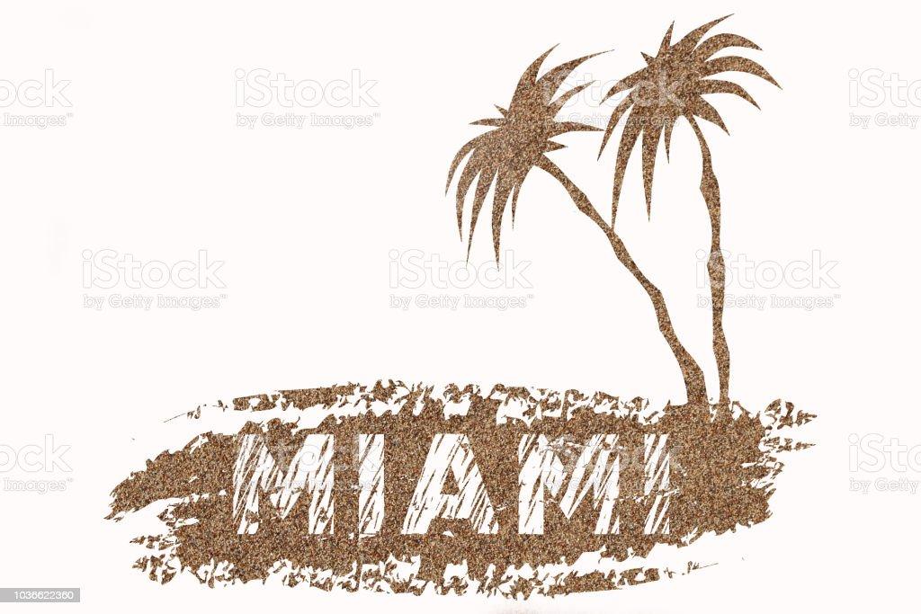 Logo of Miami stock photo