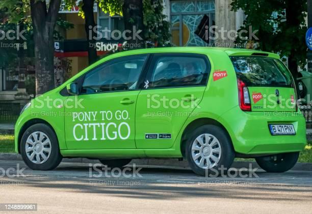 Logo of pony car sharing company inscriptioned on a green car picture id1248899961?b=1&k=6&m=1248899961&s=612x612&h=vrbhrz1aaei6khyvb7xollojznsg5ou7s72cc0eoo04=