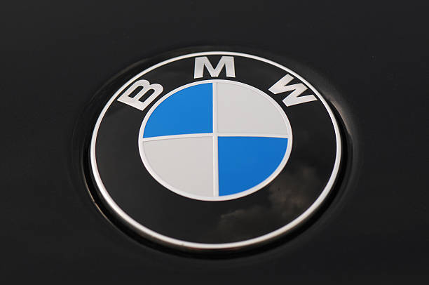BMW Logo on a Black Car 5 Series