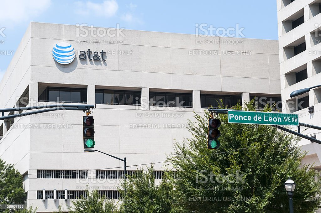 AT&T building in Atlanta stock photo
