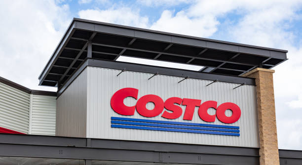 COSTCO logo on building stock photo