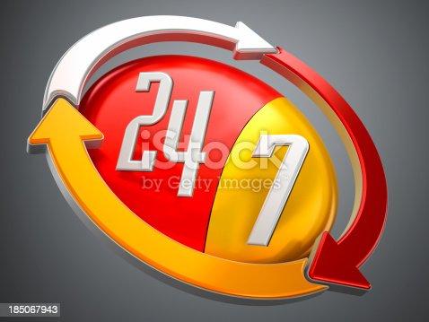 istock 24/7 logo 185067943
