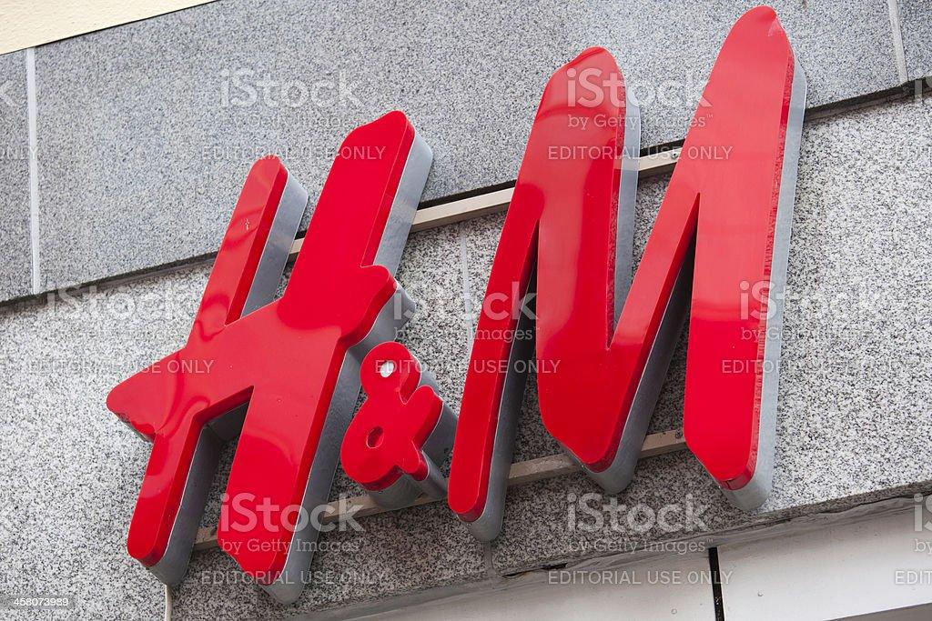 H&M logo stock photo