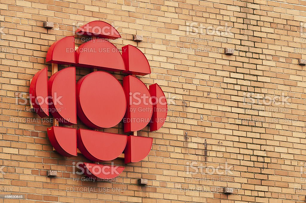CBC Logo Halifax, Nova Scotia, Canada - July 9, 2011: CBC Television logo. CBC Television provides a complete 24-hour network schedule of news, sports, entertainment and children's programming, in most cases feeding the same programming at the same local times nationwide Arts Culture and Entertainment Stock Photo