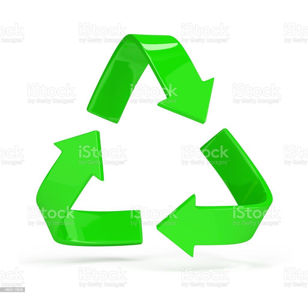 Logo recycling stock photo