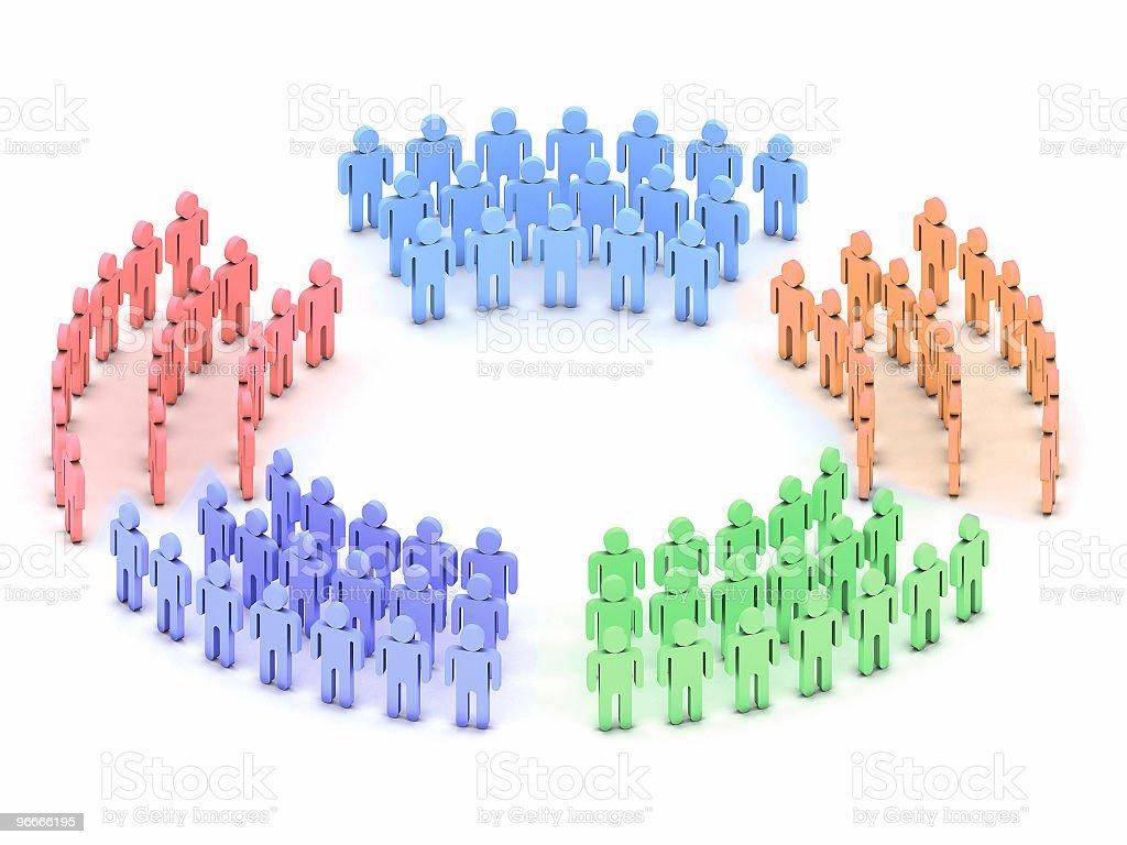 Logo three circles stock photo