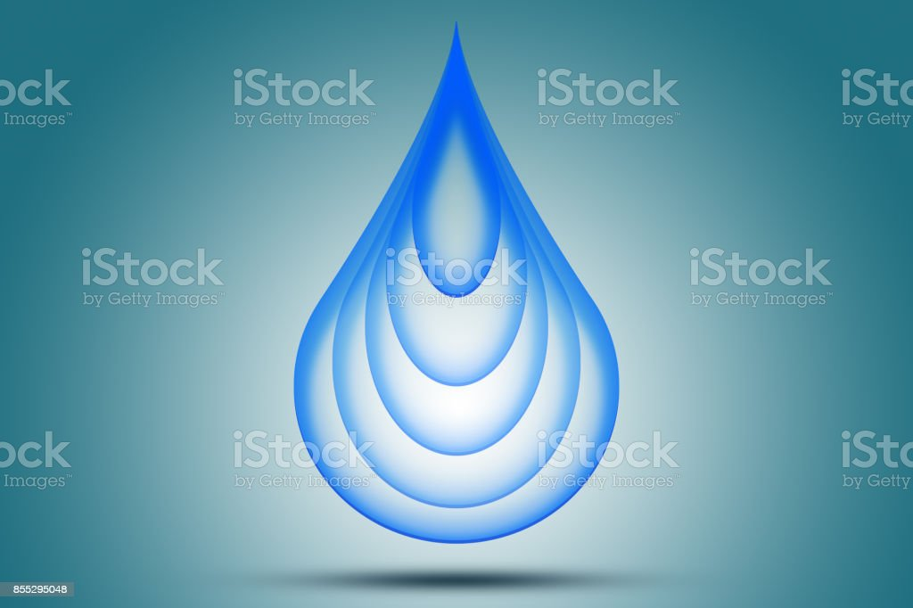 Logo water blue drop. stock photo