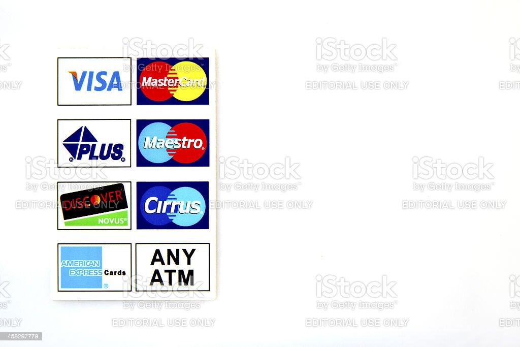Logotype en el Cajero automático - foto de stock