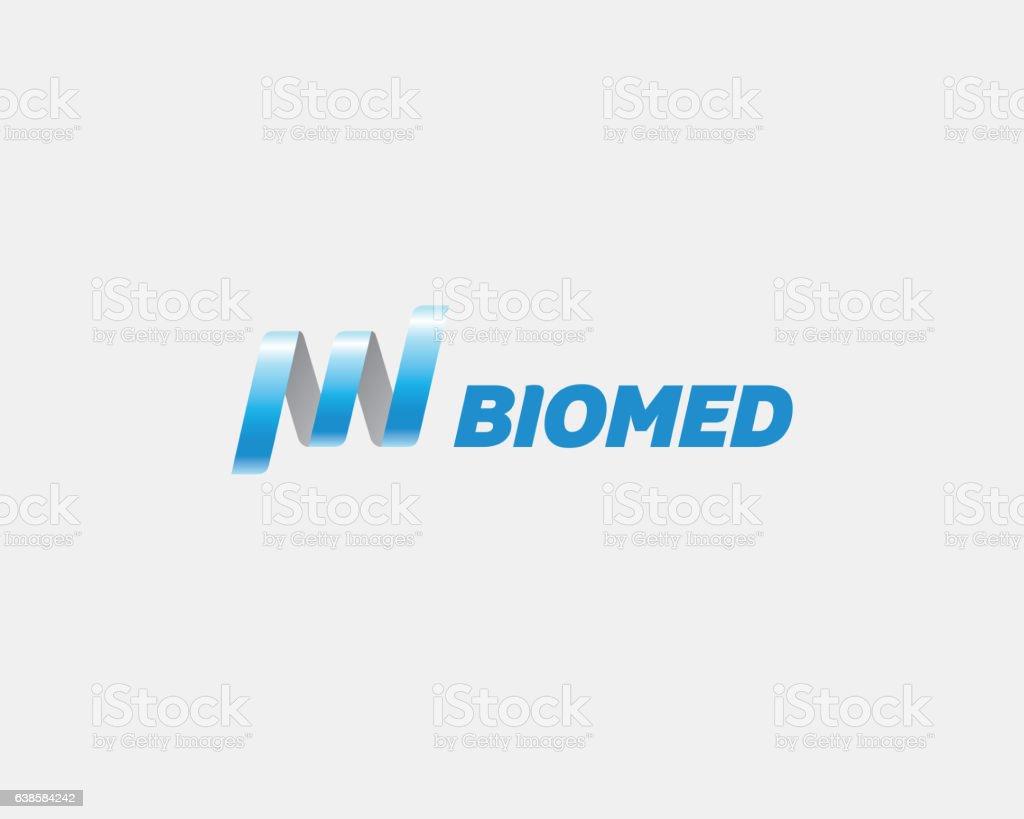 DNA Logotype. Biotechnology Medicine, Science, Laboratory, Techn stock photo