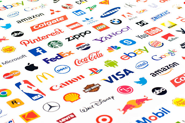 Logotype collection of well-known world brand's. stock photo