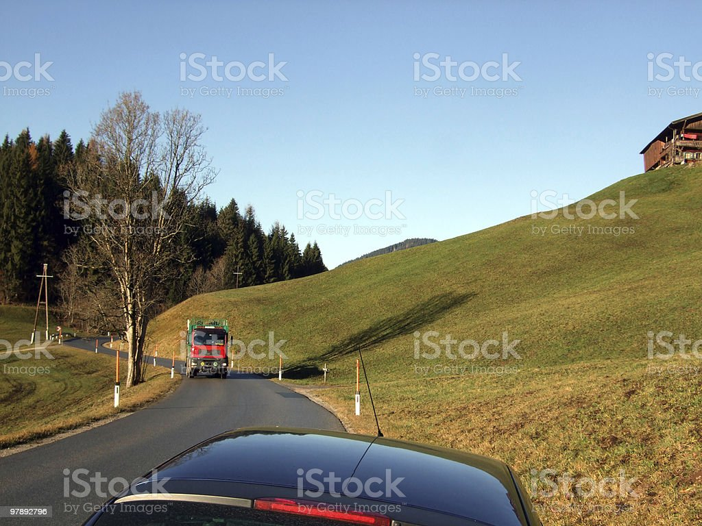 Logs Truck royalty-free stock photo