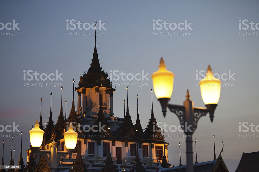 Loha Prasat Temple in Bangkok, Thailand royalty-free stock photo