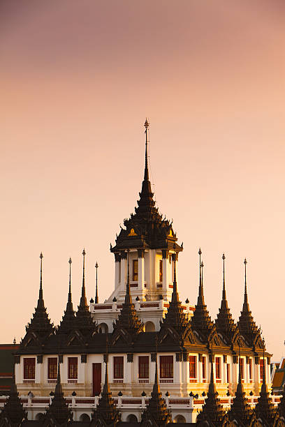 Loha Prasat Temple in Bangkok, Thailand stock photo