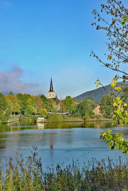 lohr am main in spessart region,bavaria,germany - main stock-fotos und bilder
